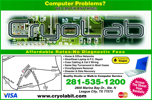 Directory Ad for Cryolab-Computer Repair & Networking