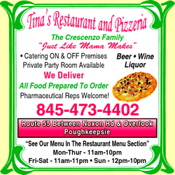 Directory Ad for Tina&#39;s Restaurant And Pizzeria