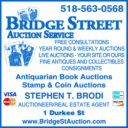 Directory Ad for Bridge Street Auction Service