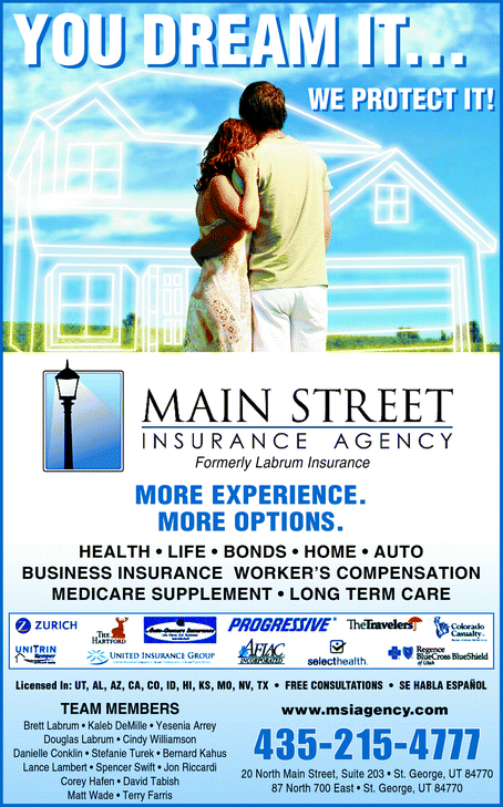 Directory Ad for Main Street Insurance Agency