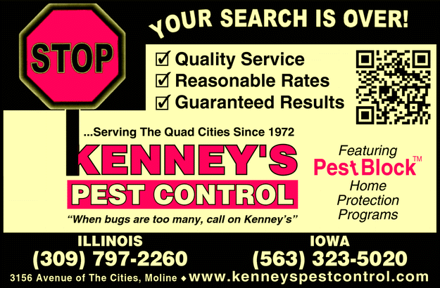 Directory Ad for Kenney&#39;s Pest Control Inc