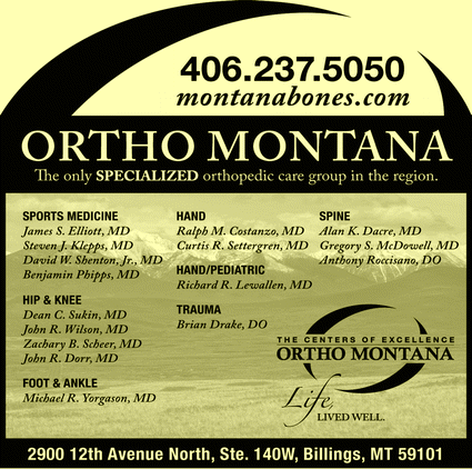 Directory Ad for Ortho-Montana