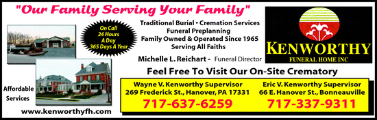 Directory Ad for Kenworthy Funeral Home Inc