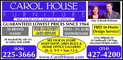 Directory Ad for Carol House Furniture