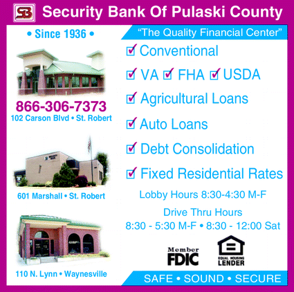 Directory Ad for Security Bank Of Pulaski County