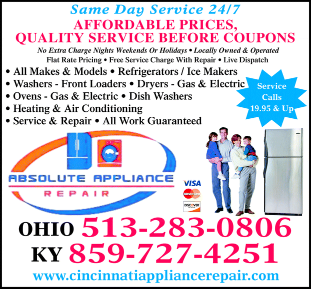 Directory Ad for Absolute Appliance Repair