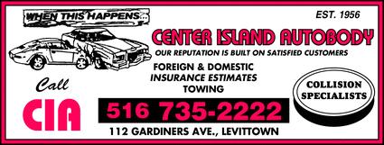 Directory Ad for Center Island Autobody