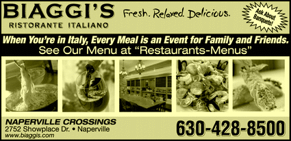 Directory Ad for Biaggi&#39;s Ristorante Italiano