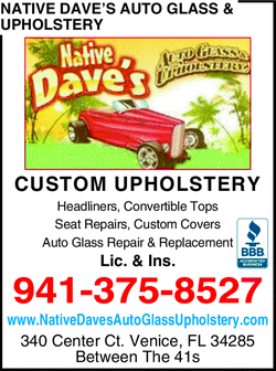 Directory Ad for Native Dave's Auto Glass & Upholstery
