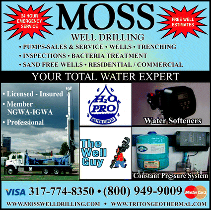 Menu for Moss Well Drilling