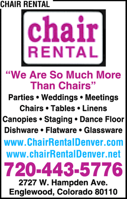 Menu for CHAIR RENTAL