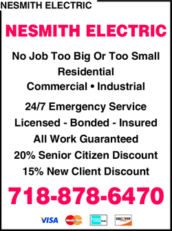 Menu for Nesmith Electric