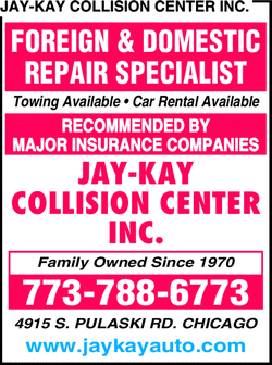 Menu for Jay Kay Collision Center Inc