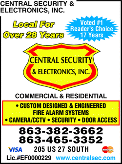 Menu for Central Security & Electronics Inc