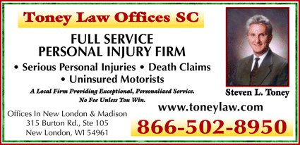 Menu for Toney Law Offices SC