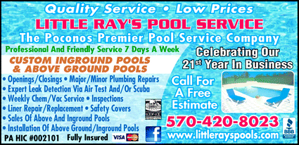 Menu for Little Ray's Pool Service