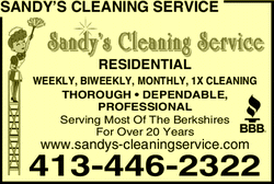 Menu for Sandy's Cleaning Service