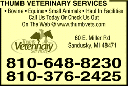 Menu for Thumb Veterinary Services