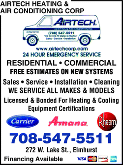 Menu for Airtech Heating & Air Conditioning Corp