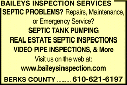 Menu for Baileys Inspection Services
