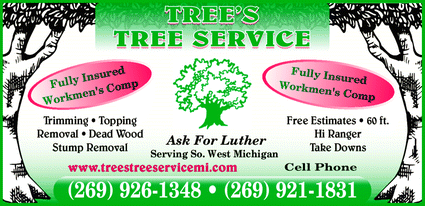 Menu for Tree's Tree Service