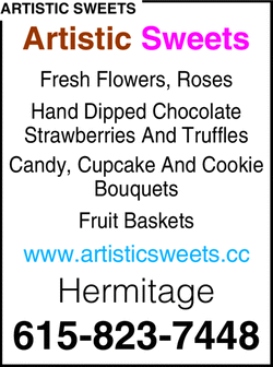 Menu for Artistic Sweets