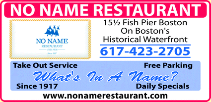Menu for No Name Restaurant