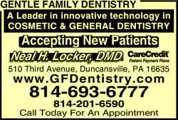 Menu for Gentle Family Dentistry