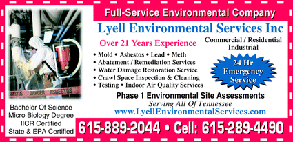 Menu for Lyell Environmental Services Inc