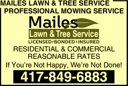 Menu for Mailes Lawn & Tree Service