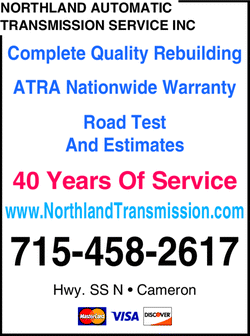 Menu for Northland Automatic Transmission Service
