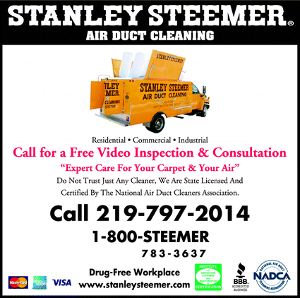 Menu for Stanley Steemer Air Duct Cleaning