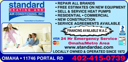 Menu for Standard Heating And Air Conditioning Inc