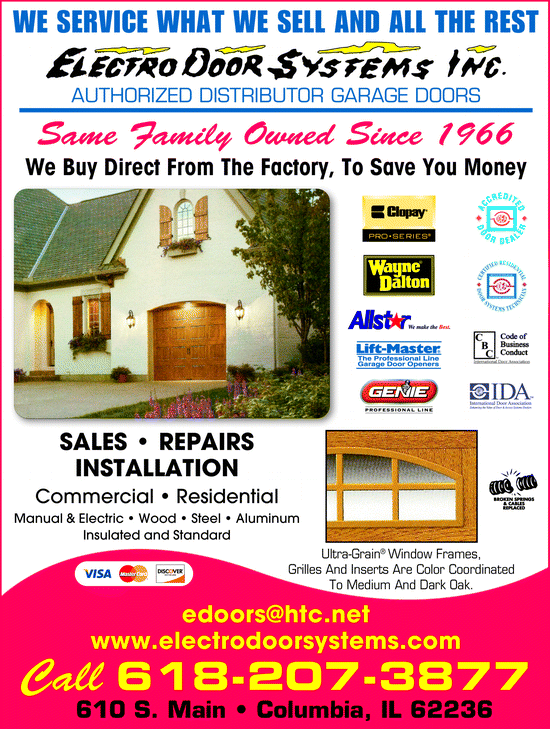... Menu for Electro Door Systems Inc ...  sc 1 st  Yellowbook & Electro Door Systems Inc Columbia IL 62236 | - Yellowbook