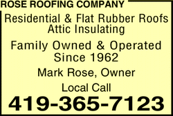 Menu for Rose Roofing Co