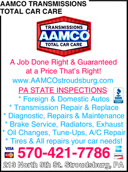 Menu for AAMCO Transmissions