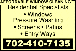 Menu for AFFORDABLE WINDOW CLEANING
