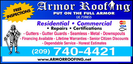 Menu for Armor Roofing