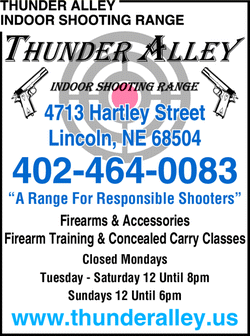 Menu for Thunder Alley Indoor Shooting Range