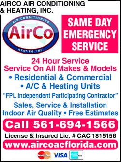 Menu for Airco Air Conditioning & Heating Inc