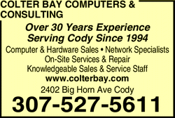 Menu for Colter Bay Computers & Consulting