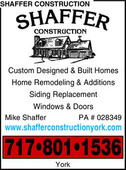 Menu for Shaffer Construction