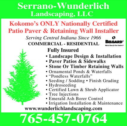 Menu for Serrano -Wunderlich Landscaping