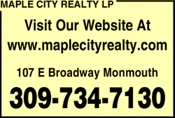 Menu for Maple City Realty LP