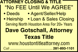 Menu for Attorney Closing & Title