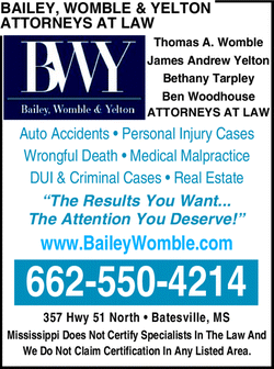 Menu for Bailey, Womble & Yelton Attorneys At Law