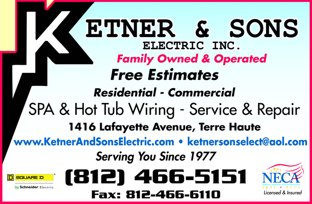 Menu for Ketner Sons Electric Incorporated