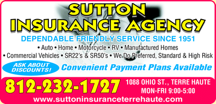 Menu for Sutton Insurance Agency