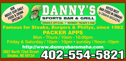 Menu for Danny's Sports Bar & Grill